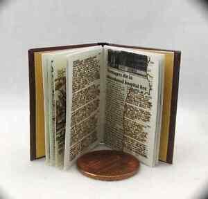 JOHN WINCHESTER'S JOURNAL 1:6 Replica Miniature Book Readable Illustrated Book
