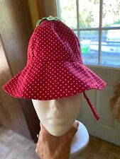 Gymboree Sunhat Strawberry With Chin Strap Adorable 12-18 Months