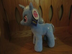 My Little Pony Build A Bear Trixie Lulamoon Unicorn Blue Plush BAB W/ Tags