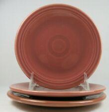 """Vtg Fiestaware Homer Laughlin Bread Butter Plates 1950s Rose 6.25"""" Set of 3"""