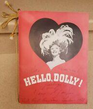HELLO DOLLY 1966 London Program Mary Martin Autographed