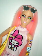 My Melody Barbie 2018 - Hello Kitty Sanrio tattoo Karl face pink hair reroot