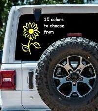 8 Sizes Sunflower Car Window Decal Sticker Laptop Macbook Tablet Wall Gift