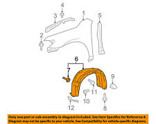 TOYOTA OEM 5388306011 07-11 Camry Fender Rear Seal Left 53883-06011