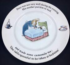 "Beatrix Potter Wedgwood Peter Rabbit  Plate 7"" Bread & Butter Peter & Mother"