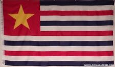 3' X 5'  LOUISIANA REPUBLIC FLAG - POLYESTER CSA  - CIVIL WAR - DIXIE