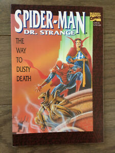 SPIDER-MAN DR STRANGE THE WAY TO DUSTY DEATH GRAPHIC NOVEL 1ST PRINT NM 1992