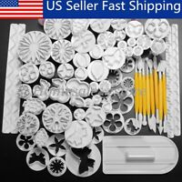 68Pcs Fondant Cake Decorating Sugarcraft Plunger Cutter Tools Cookies Mold  a