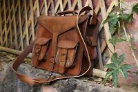New Vintage Men's Retro Leather Satchel Shoulder Laptop Bag Messenger Briefcase