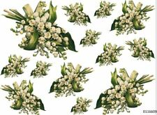 VinTaGe IMaGe LiLY oF ThE VaLLeY BouQueTs ShaBby WaTerSLiDe DeCALs TRaNsFeRs