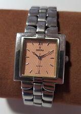 Ladies Festina 9830 3 Stainless Steel Pink Linen Dial Bracelet Link Watch