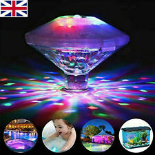 More details for underwater hot tub rgb colorful led floating bath lights lazy spa disco lamp