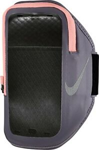 Nike Pocket Arm Band Plus Phone Case 129862 Zip Pouch Gray Pink Running Unisex