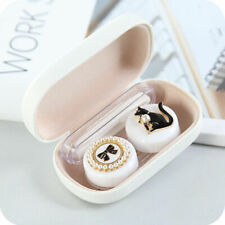 Girls Women Fashion Cartoon Contact Lens Case Portable Mini Mate Box Double Box
