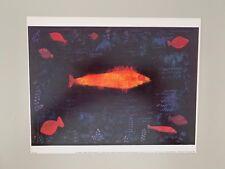 PAUL KLEE,'THE GOLDEN FISH,1925' RARE AUTHENTIC 1989 ART PRINT
