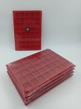 LOT 10 BOX - PLATEAUX DE RANGEMENT EN FEUTRINE POUR CAPSULES 40 CASES CARREES