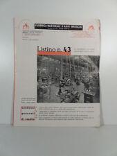 Fabbrica nazionale d'armi, Brescia. Listino n. 43, armi da caccia, tiro a segno