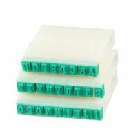 26 in 1 Buchstaben Teil Hart Plastik Kunststoff Stempel Set Weiß Grün