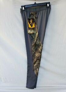 New Men's Browning Base Layer Hunting Pants Grey with A TACS Camo Panels