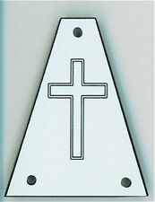 Engraved Etched GUITAR TRUSS ROD COVER - Fits JACKSON - CROSS - WHITE