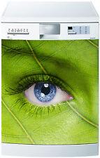 Sticker lave vaisselle déco cuisine électroménager oeil nature réf 655 60x60cm