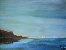 Original Art Oil Painting C PETERSON sail boats at sea Ventura Rincon seascape