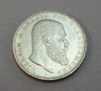 Silbermünze 5 Mark  DR Münze Silber  Wilhelm II von Wuerttemberg 1904 F