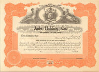 Jade Holding Company > 1930s New Jersey stock certificate share