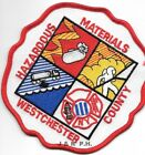 "Westchester County  Hazardous Materials, New York (4.75"" x 5"" size)  fire patch"