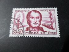 FRANCE, 1959, timbre 1211, XAVIER BICHAT oblitéré, CELEBRITY, VF cancelled STAMP