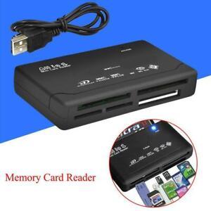 All in One 1 Memory Card Reader USB External SD SDHC Mini Micro M2 MMC XD MS CF