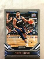 ZION WILLIAMSON Pelicans 2019-20 Panini Chronicles #169 Playbook Rookie RC