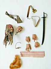 "1/6 Johnny Depp Jack Sparrow head Action Figure 12"" Hot toys DX06"
