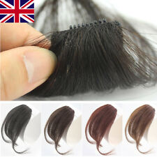 Invisible Thin Neat Air Bangs Human Hair Extension Clip In Fringe Hairpiece M069