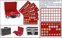 LOOK 269-9-5 Großer ALU 2 EURO-Münzkoffer BLACK Für 200 Münzen in Münzkapseln 26