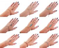 Handkette Kette Armband Ring Sklavenarmband Gold Silber Vintage Geschenk Orient