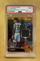 2019 Panini Prizm Orange Ice Sensational Swatches Ja Morant Rookie PSA 9 MINT RC