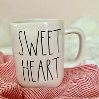 "NEW Rae Dunn Double Sided ""SWEET HEART"" LL Mug Valentine's Day Candy Hearts XOXO"