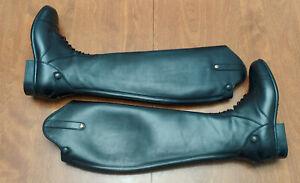Sergio Grasso NEW Imperia tall field boots black 38 HE 7.5 $911