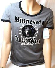 Minnesota Timberwolves Womens Baby Jersey Short Sleeve Ringer T Shirt Medium New