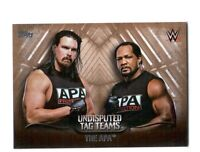 WWE The APA 2016 Topps Undisputed Tag Teams Parallel Card SN 60 of 99