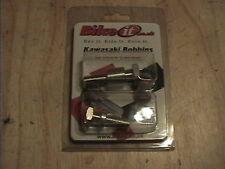 KAWASAKI M10 1.25 MOTORCYCLE SWINGARM PADDOCK STAND OFF SET BOBBINS 10MM SILVER