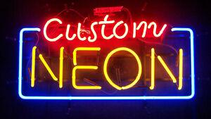 Custom Neon Sign Real Glass Bar Decor Light Lamp Bedroom Garage Man Cave Artwork