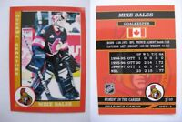 2015 SCA Mike Bales rare Ottawa Senators goalie never issued produced #d/10