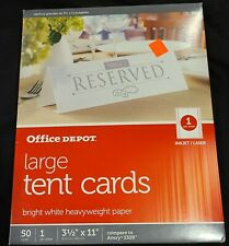 Office Depot Large Tent Cards For Partys 50ct Ink Jet Or Laser Printer