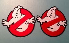 GHOSTBUSTERS 80's SCI-FI MOVIE TV COSTUME 2 For 1 Quality Iron On Patch Badge