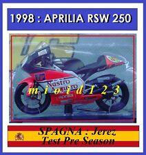 1/18 - ROSSI - APRILIA RSW 250 - 1997 Jerez Test - Die-cast