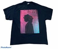 Men's THE 1975 (band) Black T-Shirt Top Short  Sleeve 100% Cotton Size XL