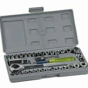 kit chiavi a bussole Kit chiavi a tubo in pollici 40 pezzi acciaio cromo vanadio