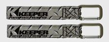 2~Keeper Wrap-It-Up Gray Bundling Strap Uv Resist Waterproof Carabiner 05262 New